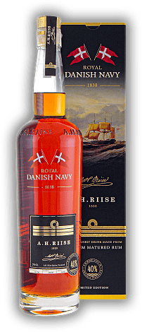 A.H. Riise Danish Navy Rum 40%