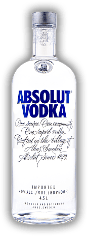 Absolut Blue Vodka 4,5 Liter