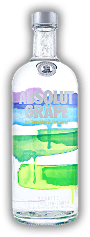 Absolut Gräpe Vodka with Grape Flavor 1,0 Liter