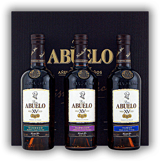 Abuelo XV Anos Cask Finish Collection 3x0,20 Liter