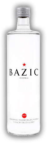 BAZIC Vodka Original Hamburger Vodka 5 Fach Destilliert 1,0 Liter