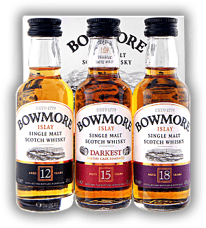 Bowmore Distillers Collection 3x0,05 Liter 12 Years, 15 Years Darkest, 18 Years