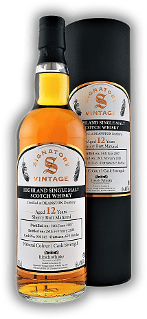 Deanston Signatory Vintage Cask Strength for Kirsch 12 Years 2007/2020 #900145 64,4%
