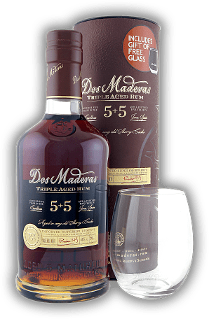 Dos Maderas Ron Anejo PX 5 + 5 Years Old + Glas