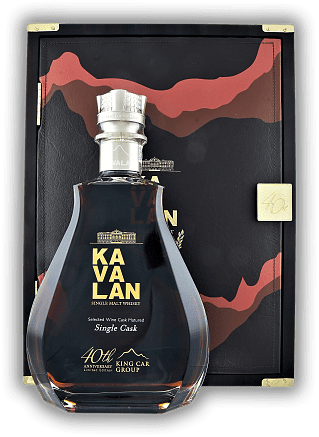 Kavalan King Car 40th Anniversary Edition in Holzbox 56,3%