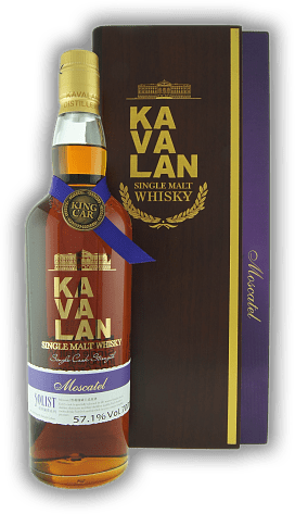 Kavalan Solist Moscatel in Holzkiste 57,1%