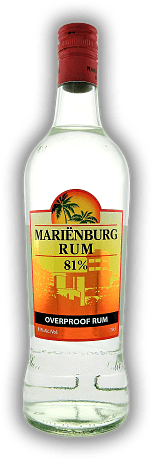 Marienburg White Rum 81% Suriname