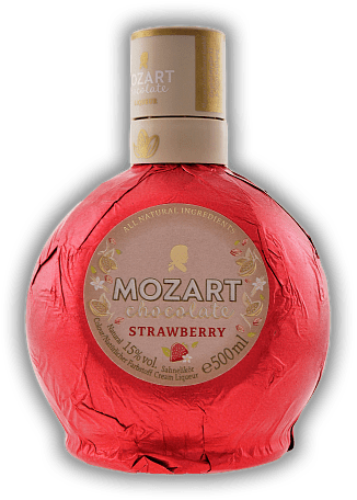 Mozart White Chocolate Strawberry Cream 0,5 Liter