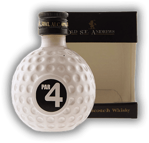 Old St. Andrews Par 4 Premium Blend Scotch Whisky Golfball-Flasche 0,05 Liter
