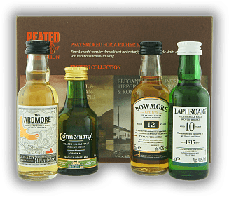 Peated Malts of Distinction Trial Pack 4x0,05 Liter Laphroaig 10 Y., Ardmore Legacy, Bowmore 12 Y., Connemara