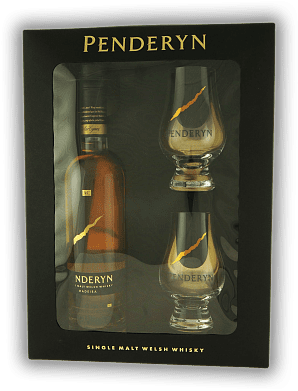 Penderyn Single Malt Madeira Cask Finish 46% 0,35 Liter & 2 Gläser in GP