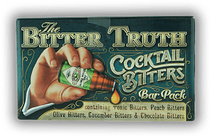 The Bitter Truth Cocktail Bitters Bar Pack Set 5 x 0,02 Liter Tonic Bitters, Peach Bitters, Olive Bitters, Cucumber Bitters u. Chocolate Bitters