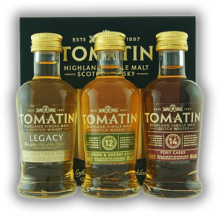 Tomatin Triple Pack 3x0,05 Liter Legacy, 12 Y., 14 Y. Single Malt