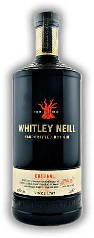 Whitley Neill Handcrafted Dry Gin Original 43% 1,0 Liter