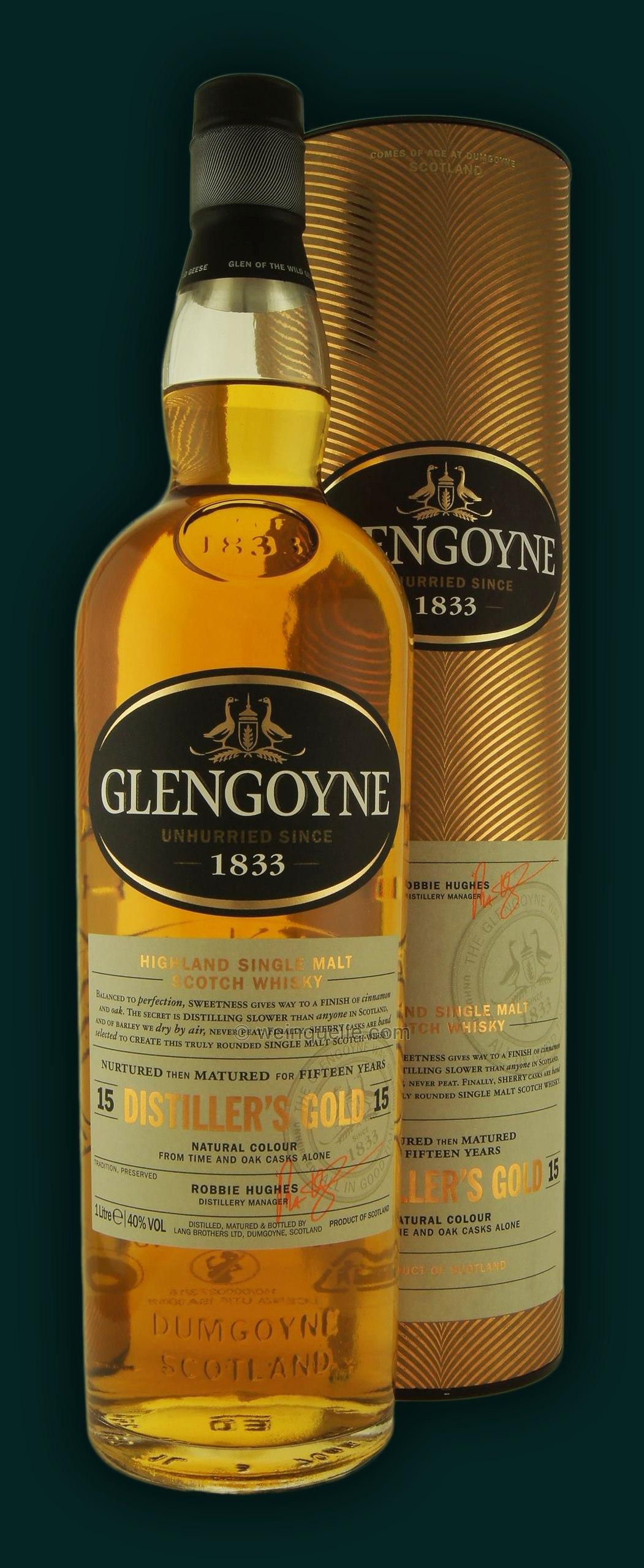 Glengoyne 15 Years Distiller's Gold 1,0 Liter, 64,50