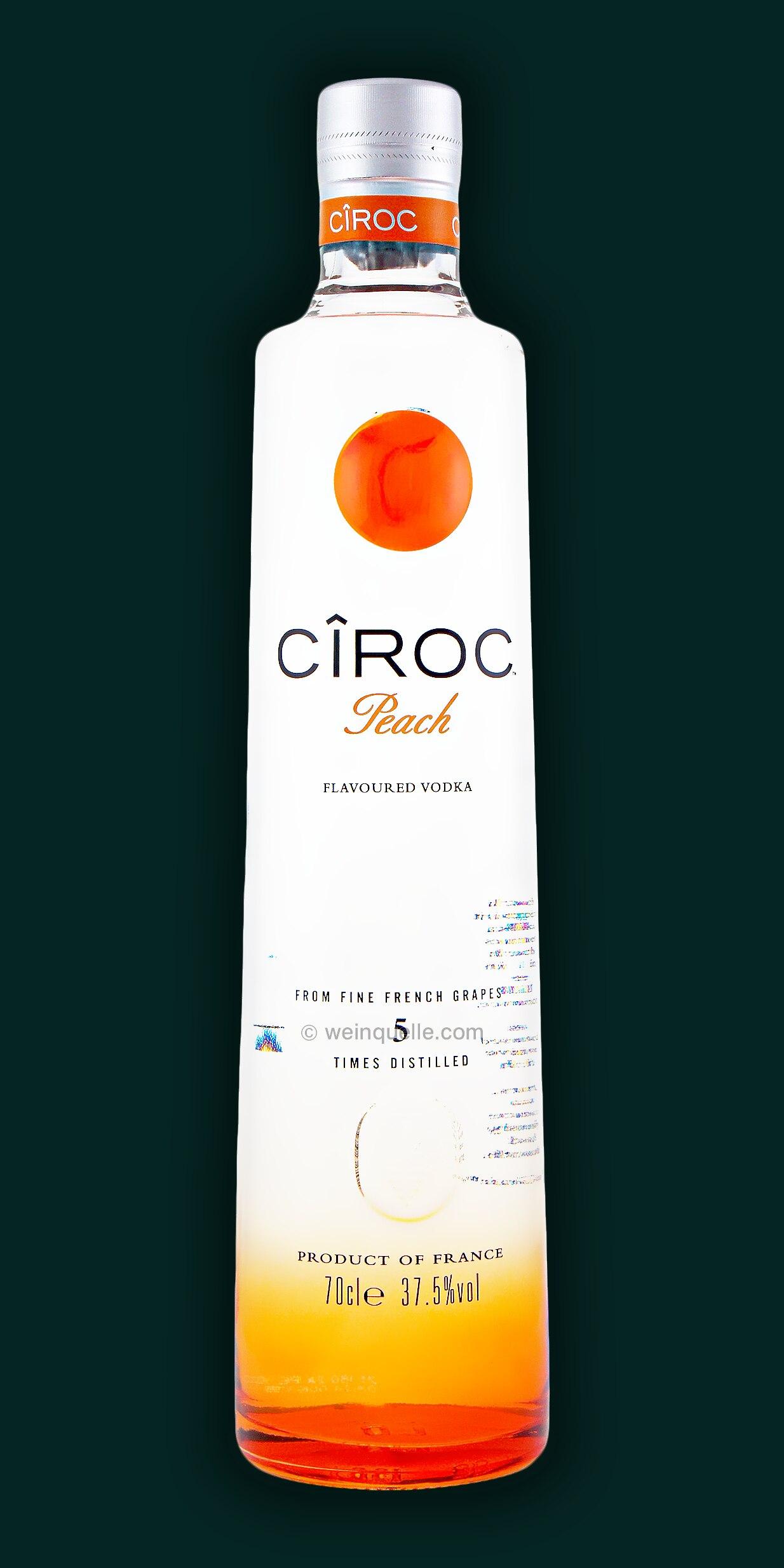 ciroc peach flavoured vodka 25 95 weinquelle l hmann. Black Bedroom Furniture Sets. Home Design Ideas