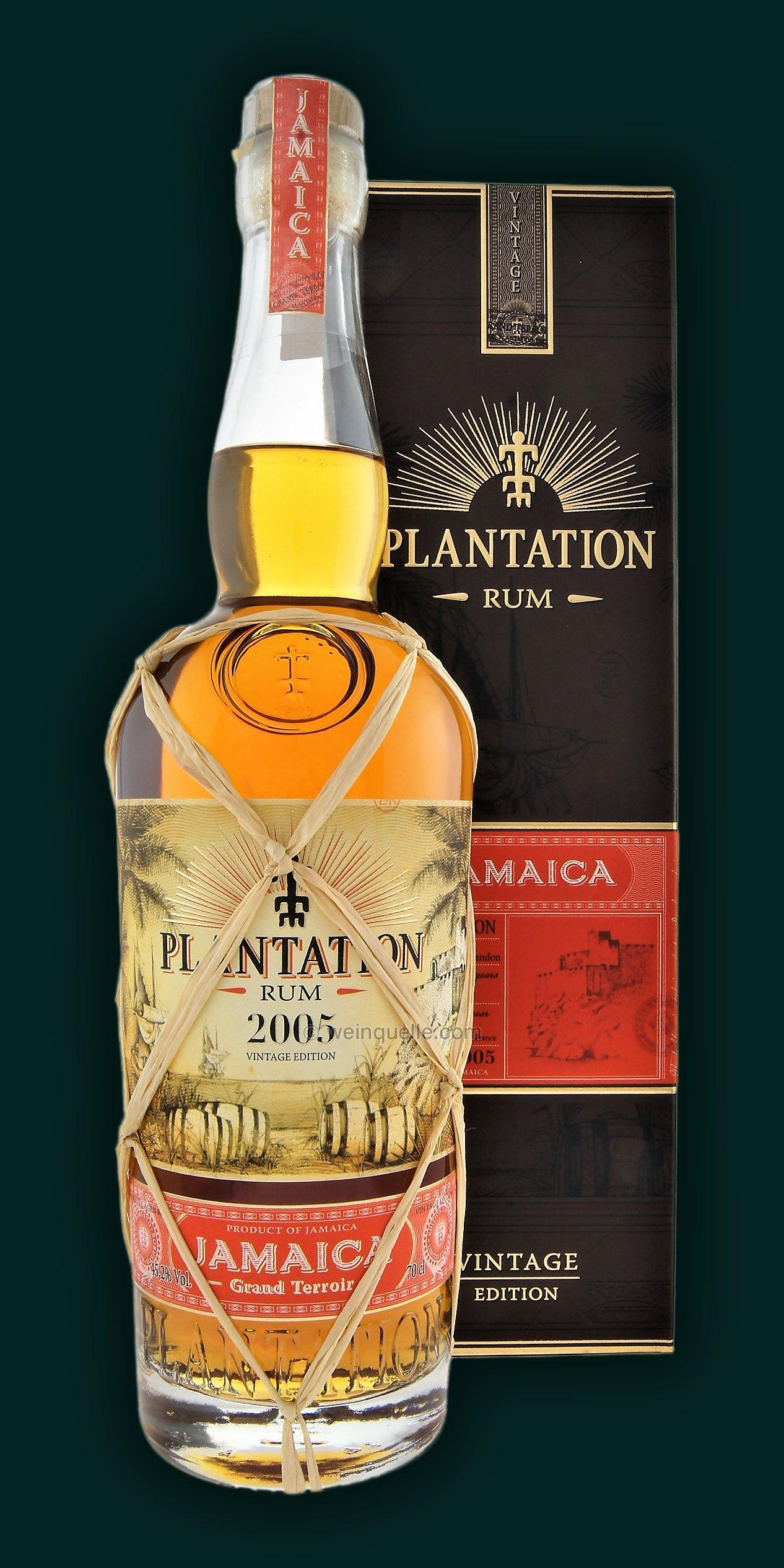Plantation Jamaica Rum Vintage Edition 2005, 36,90 ...