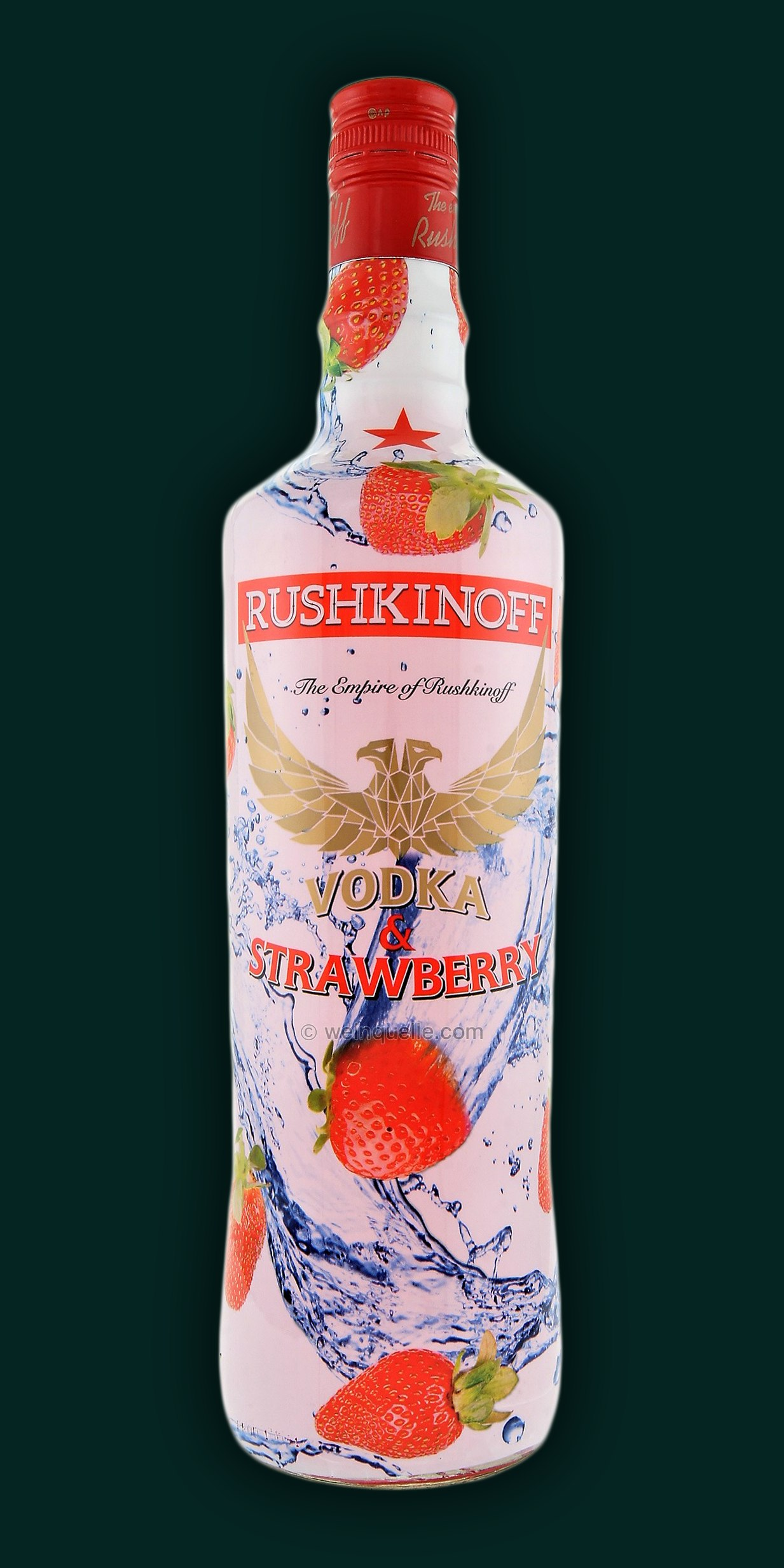 rushkinoff vodka strawberry 1 0 liter 10 95. Black Bedroom Furniture Sets. Home Design Ideas