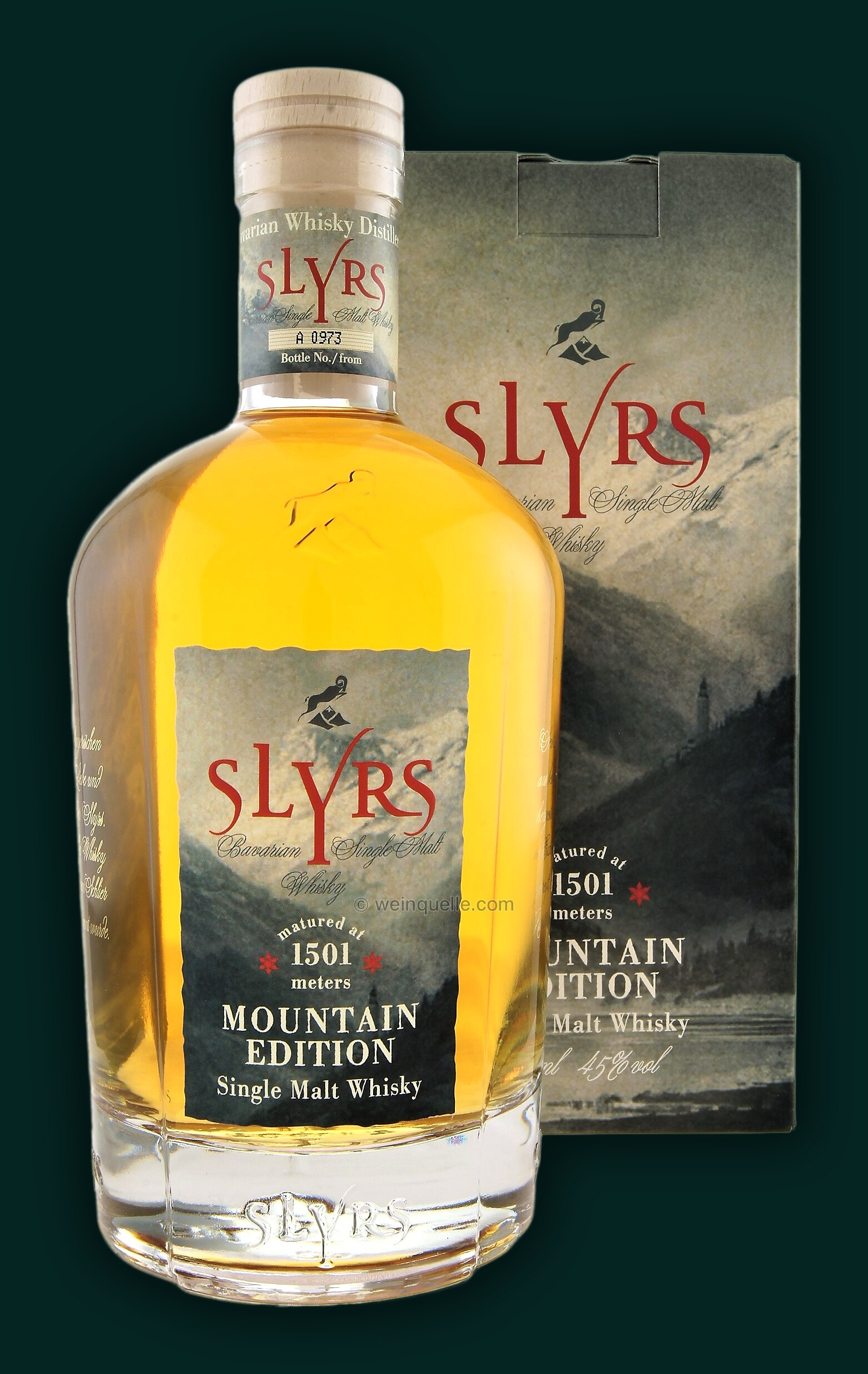 Slyrs Bavarian Single Malt Whisky Mountain Edition, 75,90
