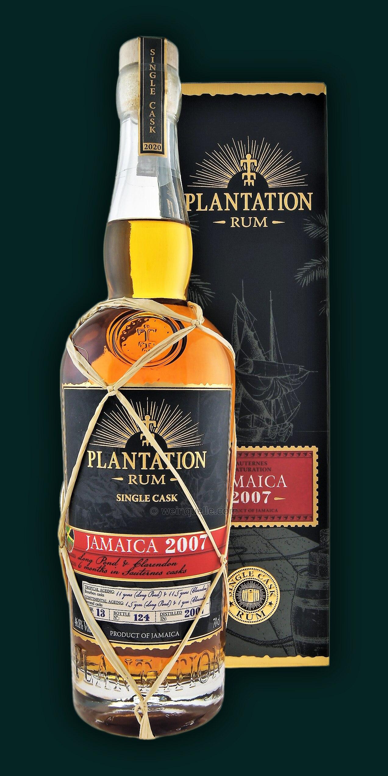 Plantation Jamaica Rum 2007/2020 Long Pond - Clarendon 46 ...