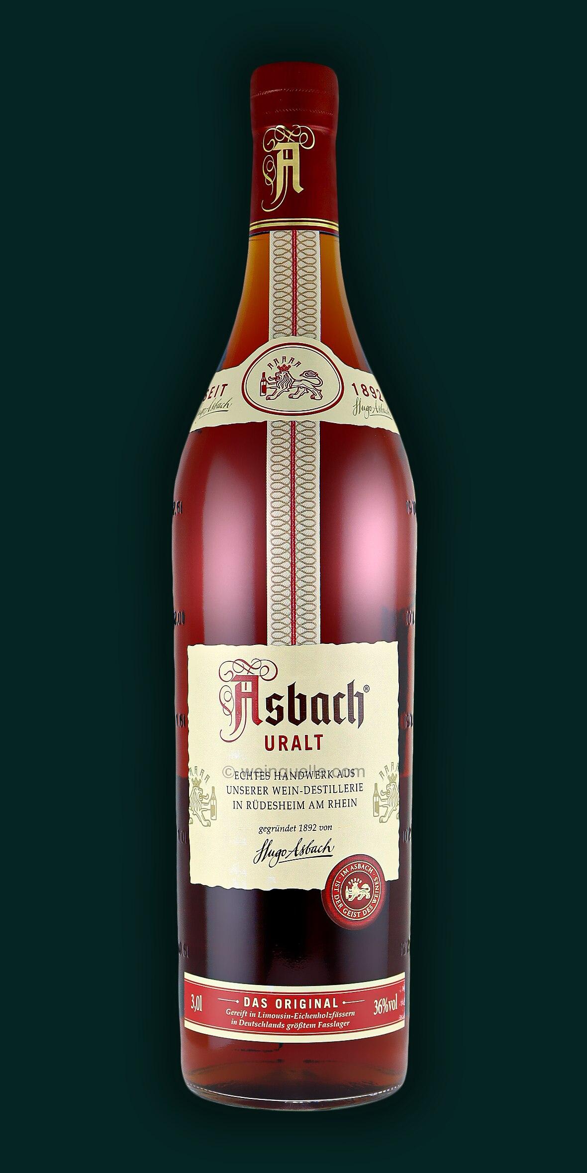 asbach uralt 3 0 liter 54 50 weinquelle l hmann