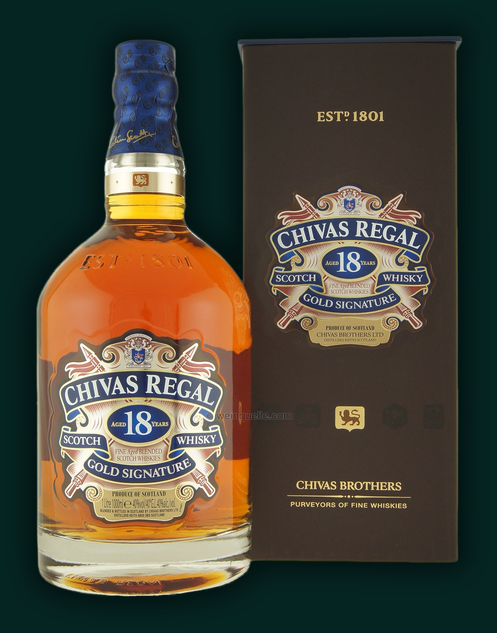 Chivas regal 18 years gold signature 1 0 liter 76 95 weinquelle l hmann - Chivas regal 18 1 liter price ...