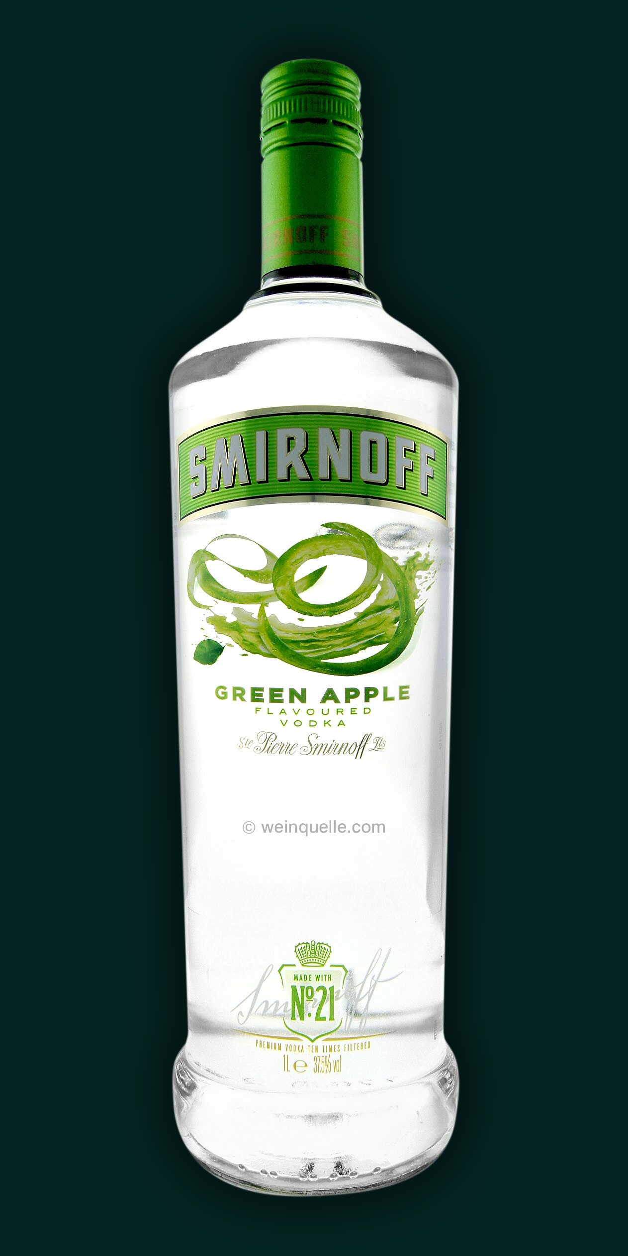smirnoff green apple 1 0 liter 15 30 weinquelle l hmann. Black Bedroom Furniture Sets. Home Design Ideas