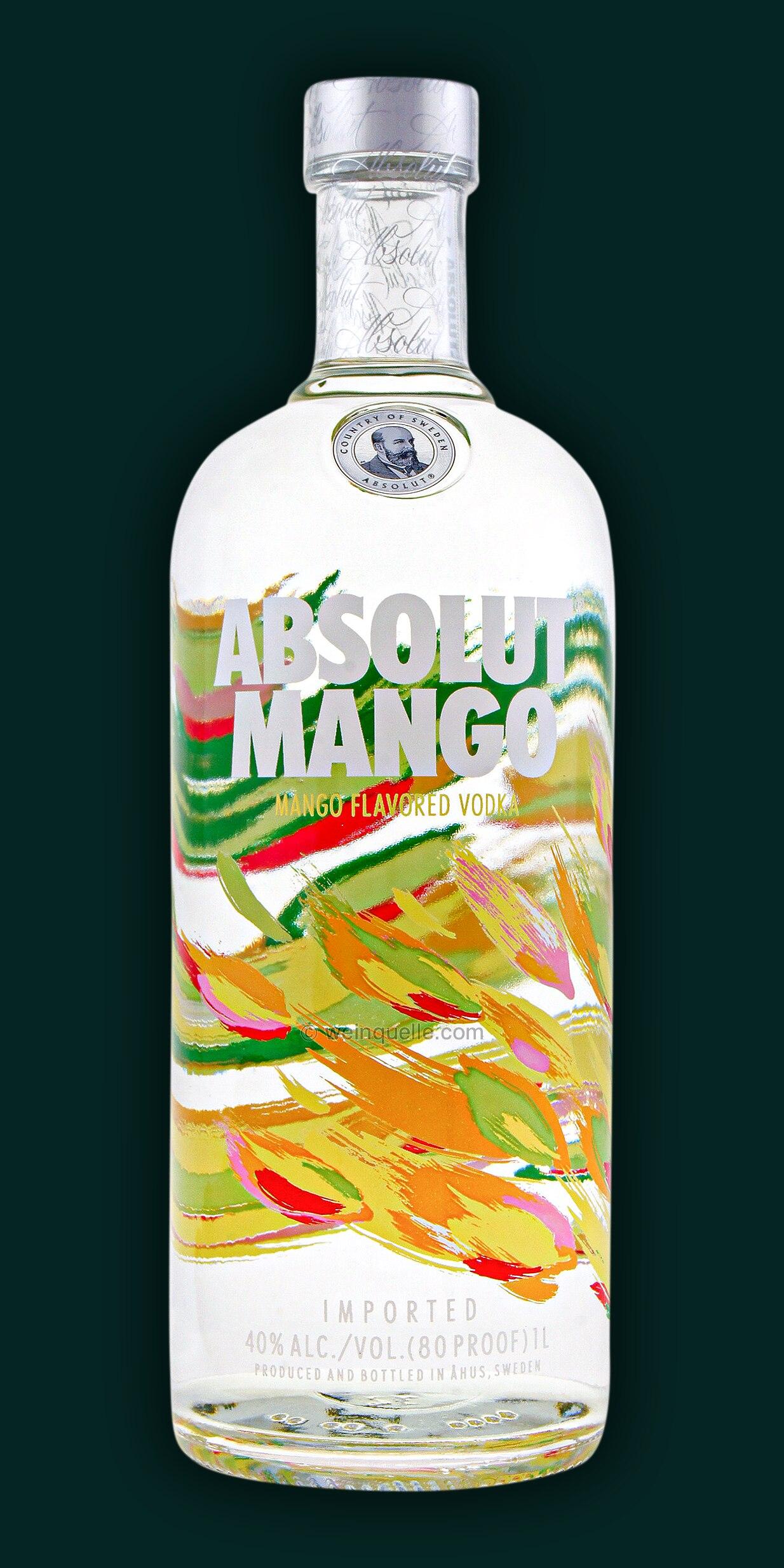 absolut mango vodka 1 0 liter 19 95 weinquelle lühmann
