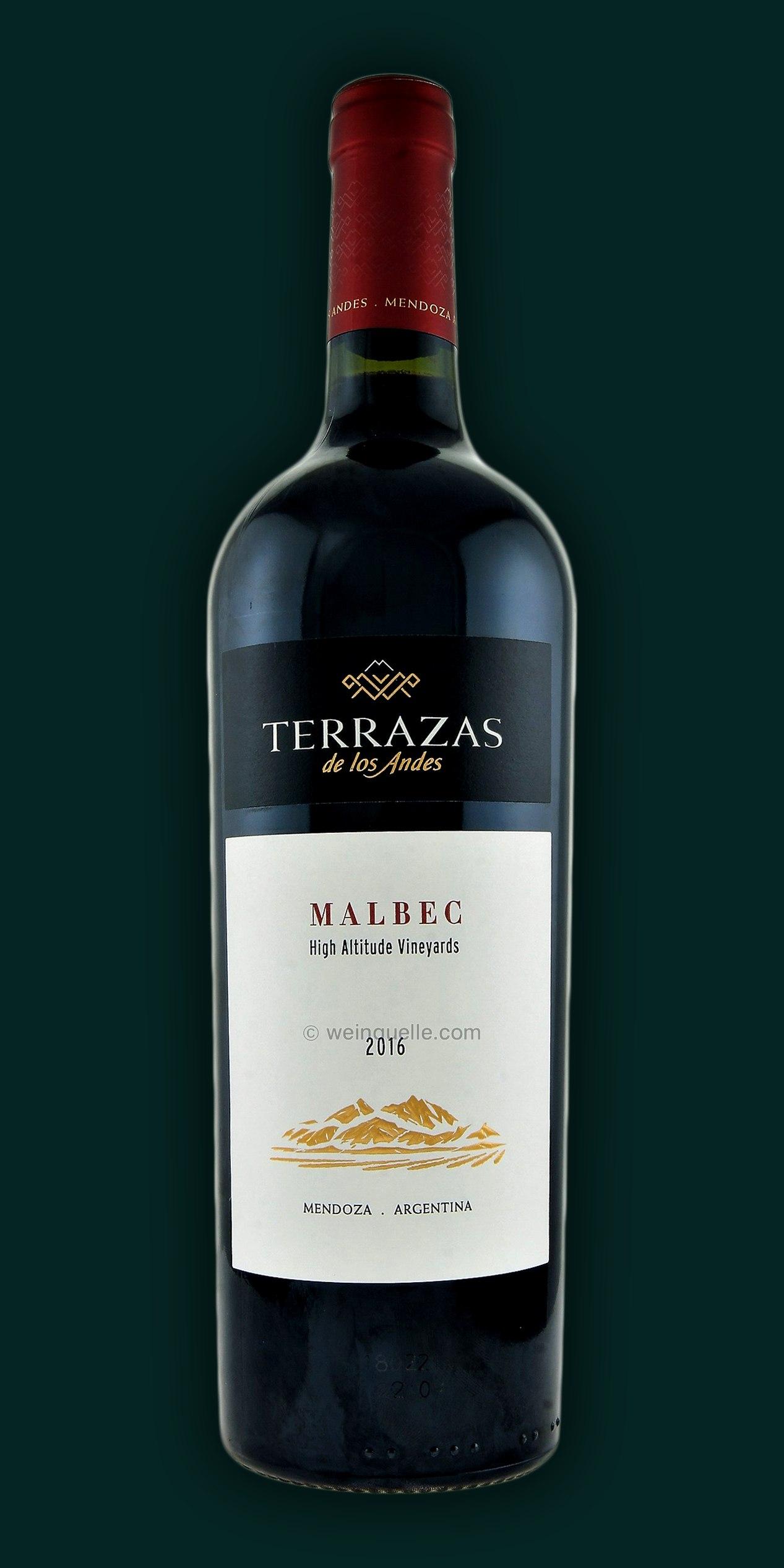 Terrazas De Los Andes Malbec 2016 Mendoza